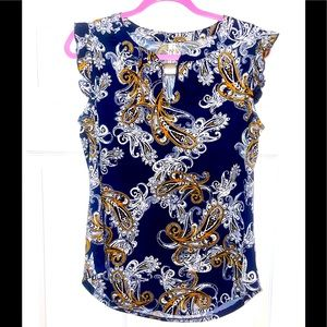 Pretty Paisley PerSeption Concept cap sleeve Top